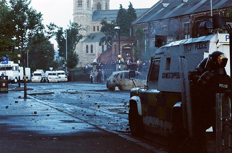 The aftermath of a recent riot