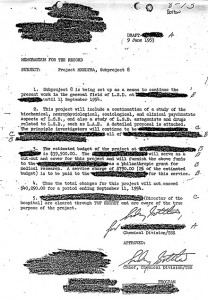 Classified document approving the use of LSD in Project MK-ULTRA