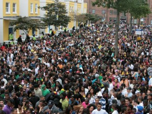 The busy Notting Hill carnival