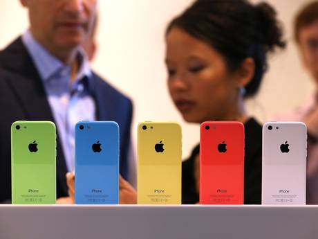 The new iPhone 5C will come in five different colours (Getty)