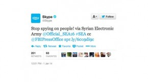 Skype hacked by 'Syrian Electronic Army'.