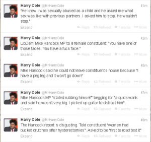 2014.01.22 Harry Cole re LibDem Hancock