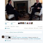 Cameron's PR Team try and fail at Twitter banter.