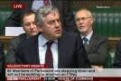 Gordon Brown says farewell to the Green Benches