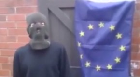 Watch: Hopeless Activist Fails to Burn EU Flag