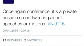 NUT Tightens Censorship at Conference