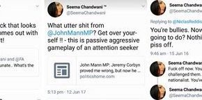 Corbyn Committee ally sends foul Twitter abuse