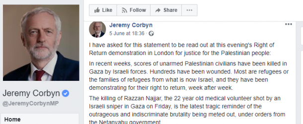 Corbyn's Facebook page riddled with anti-Semitic comments